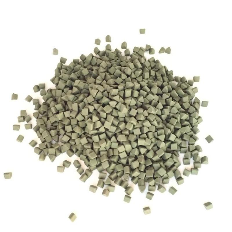 Green Triangle Beads